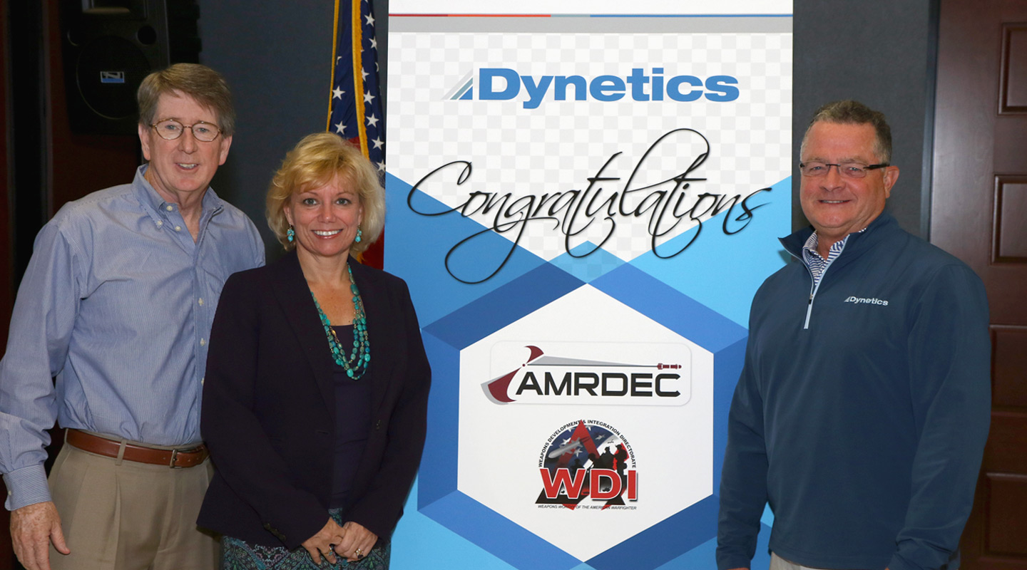 Dynetics selected for AMRDEC weapons development support banner image