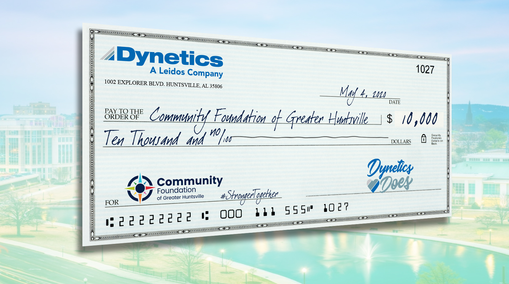 Dynetics Donates to the Community Foundation of Greater Huntsville thumbnail image