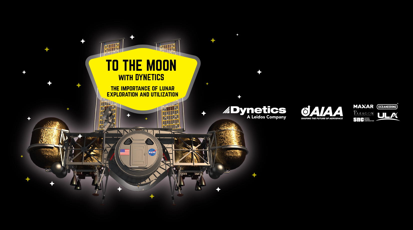 Dynetics and AIAA to host lunar exploration webinar banner image