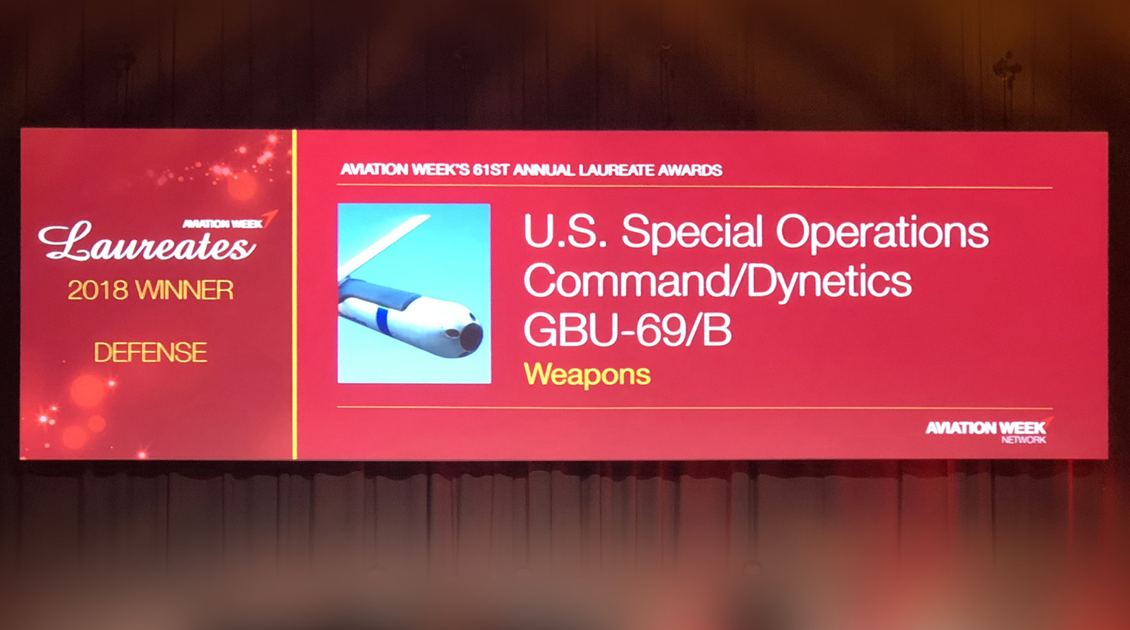 Dynetics named a 2018 Aviation Week Laureate banner image