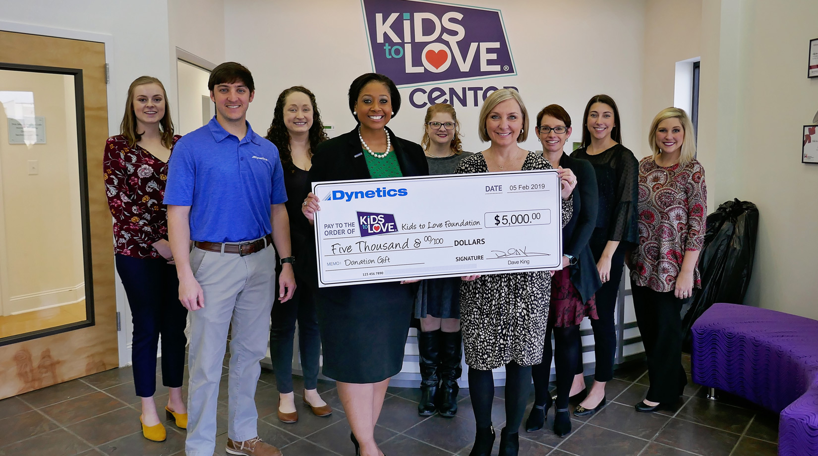Kids to Love Foundation receives a $5,000 gift banner image