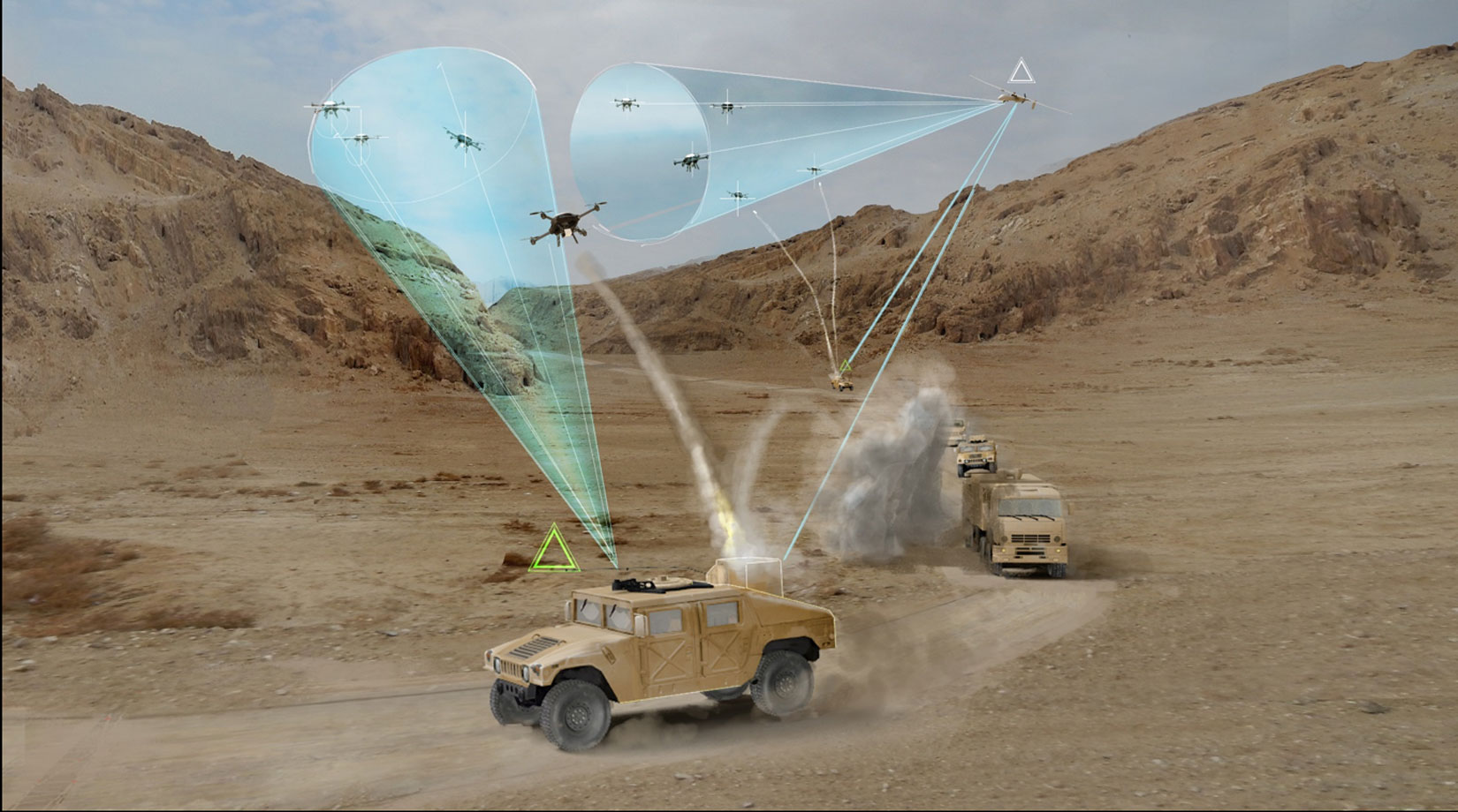 Dynetics selected as a Phase 1 performer for DARPA's Mobile Force Protection program banner image