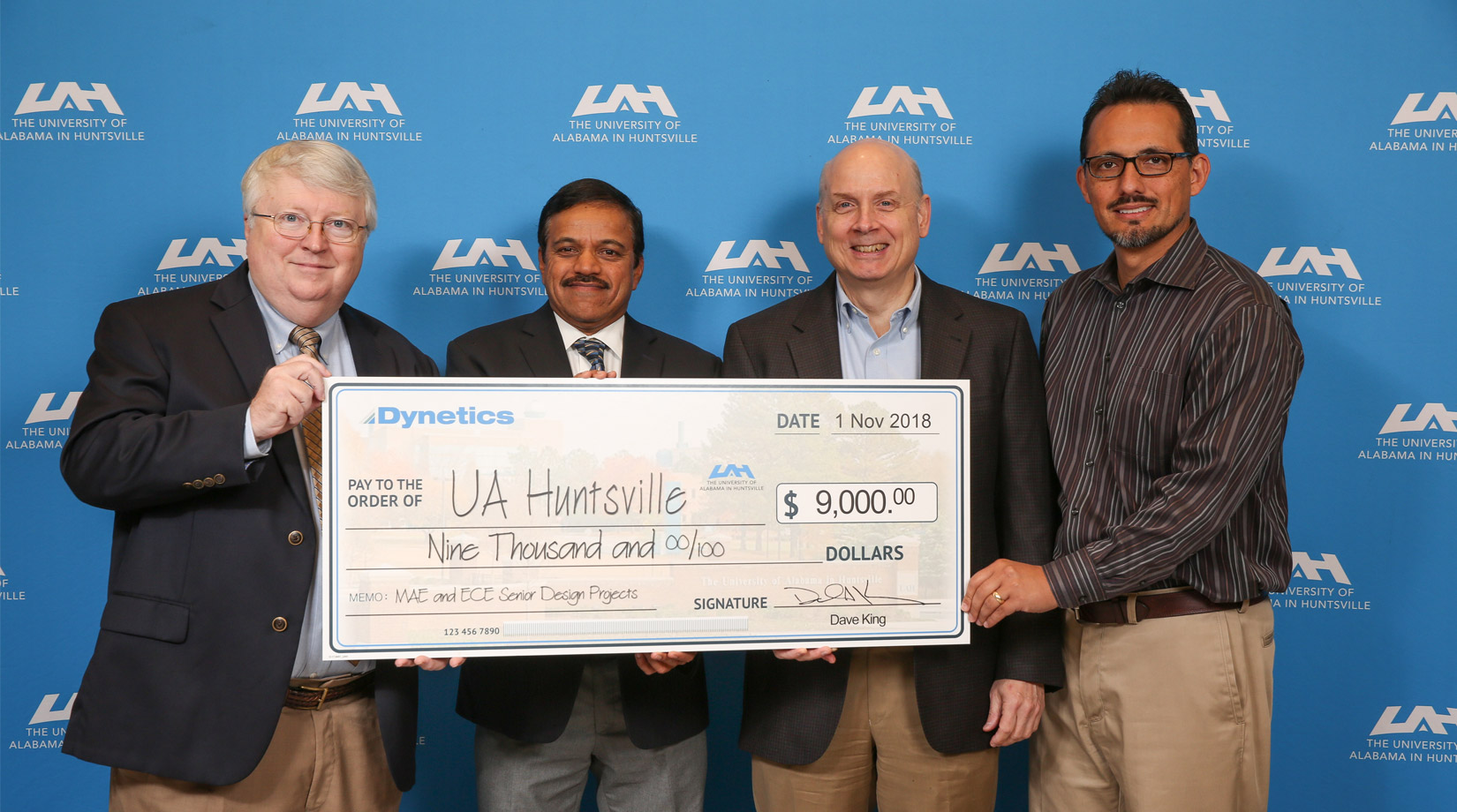 Dynetics gifts a donation to UA Huntsville banner image